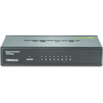 TrendNet GREENnet Unmanaged network switch Gigabit Ethernet (10/100/1000) Nero