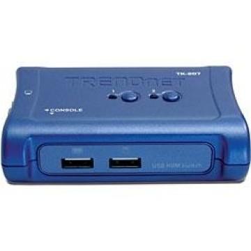 TrendNet TK-207K Blu switch per keyboard-video-mouse (kvm)