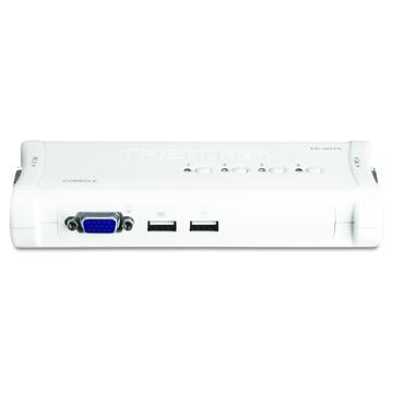 TrendNet TK-407K switch per keyboard-video-mouse (kvm) Blu