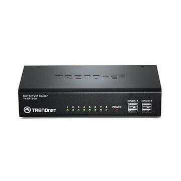 TrendNet TK-CAT508 switch per keyboard-video-mouse (kvm) Nero