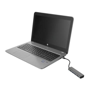 Trust Halyx Aluminium 4-Port USB 3.2 Hub USB-A 3.1 Gen 1 4x USB-A 3.2 Gen 1 Grigio