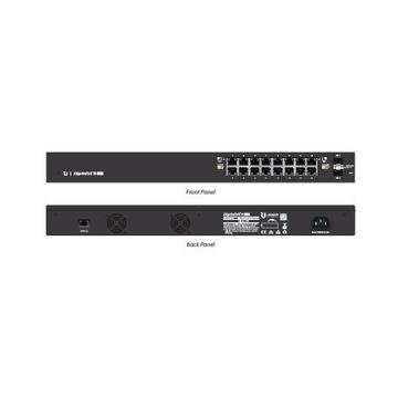 Ubiquiti Networks ES-16-150W Gigabit PoE Nero 16 Porte RJ45