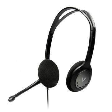 V7 HA202-2NP Gaming Auricolare Stereofonico Nero