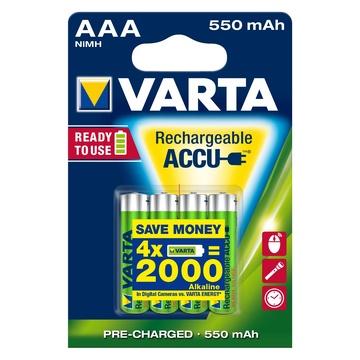 Varta Ready2Use HR03 4pcs Ricaricabile NiMH