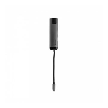 Verbatim 49141 hub di interfaccia USB 3.0 (3.1 Gen 1) Type-C 1000 Mbit/s Nero, Argento