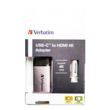 Verbatim 49143 cavo e adattatore video 0,01 m USB C HDMI Nero, Argento