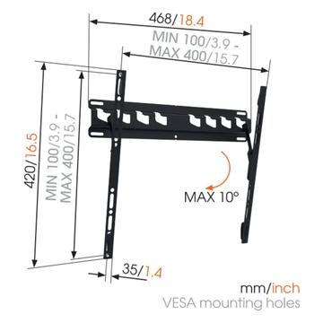 MA 3010 Staffa TV Inclinabile
