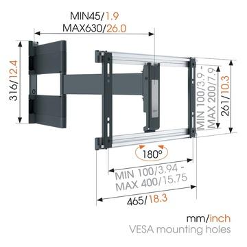Vogel's THIN 546 per schermi 40 - 65