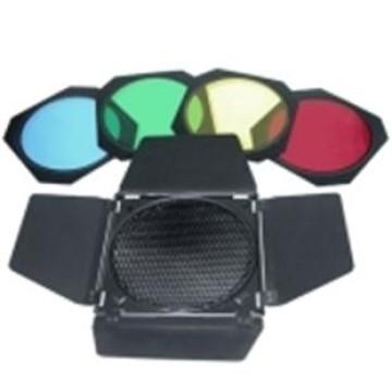 Walimex Portafiltri Con 4 Alette e filtri colorati