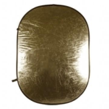 Walimex Pannello riflettente ondulato pieghevole 2in1 Gold/Bianco 145x200cm