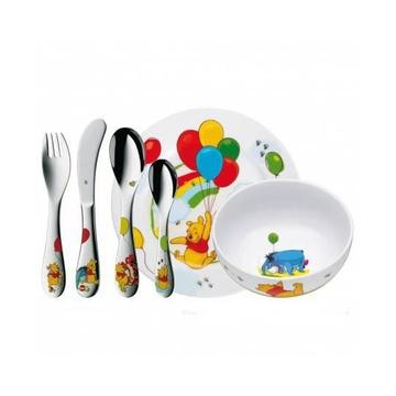 WMF 12.8350.9964 Set Posate 6 pezzi in Porcellana a tema Winnie The Pooh