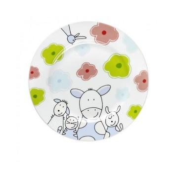 12.9445.9964 Set di posate per bambini Acciaio inossidabile, Bianco Porcellana, Acciaio inossidabile