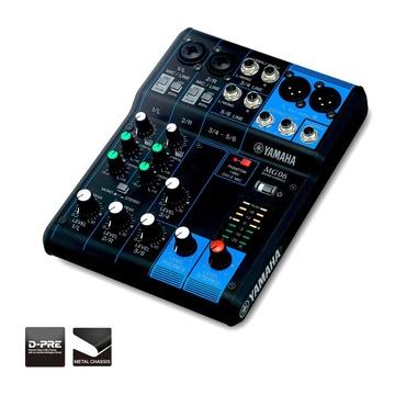 Yamaha MG06 Mixer Audio 6 Canali Nero