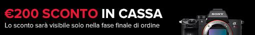 Sony 7R III + Ottica G Master = € 200 sconto IMMEDIATO IN CASSA