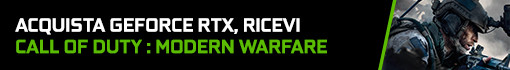 Nuovo Bundle GeForce RTX e RTX Super Omaggio COD Modern Warfare