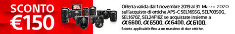 Sconto Cassa Sony Serie 6 + Ottica selezionata