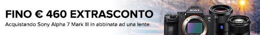 Sconto Cassa Sony 7 III + Ottica selezionata