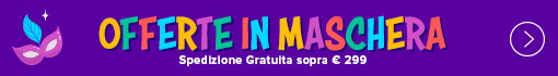 Carnevale 2020 SPEDIZIONE GRATUITA su tutto il catalogo