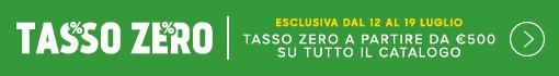 Tasso Zero 10 rate su tutto il Catalogo a partire da 500 euro solo per pochi giorni AFFRETTATI!