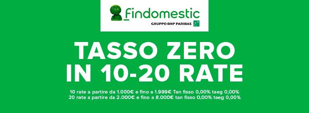 Tasso Zero con Findomestic
