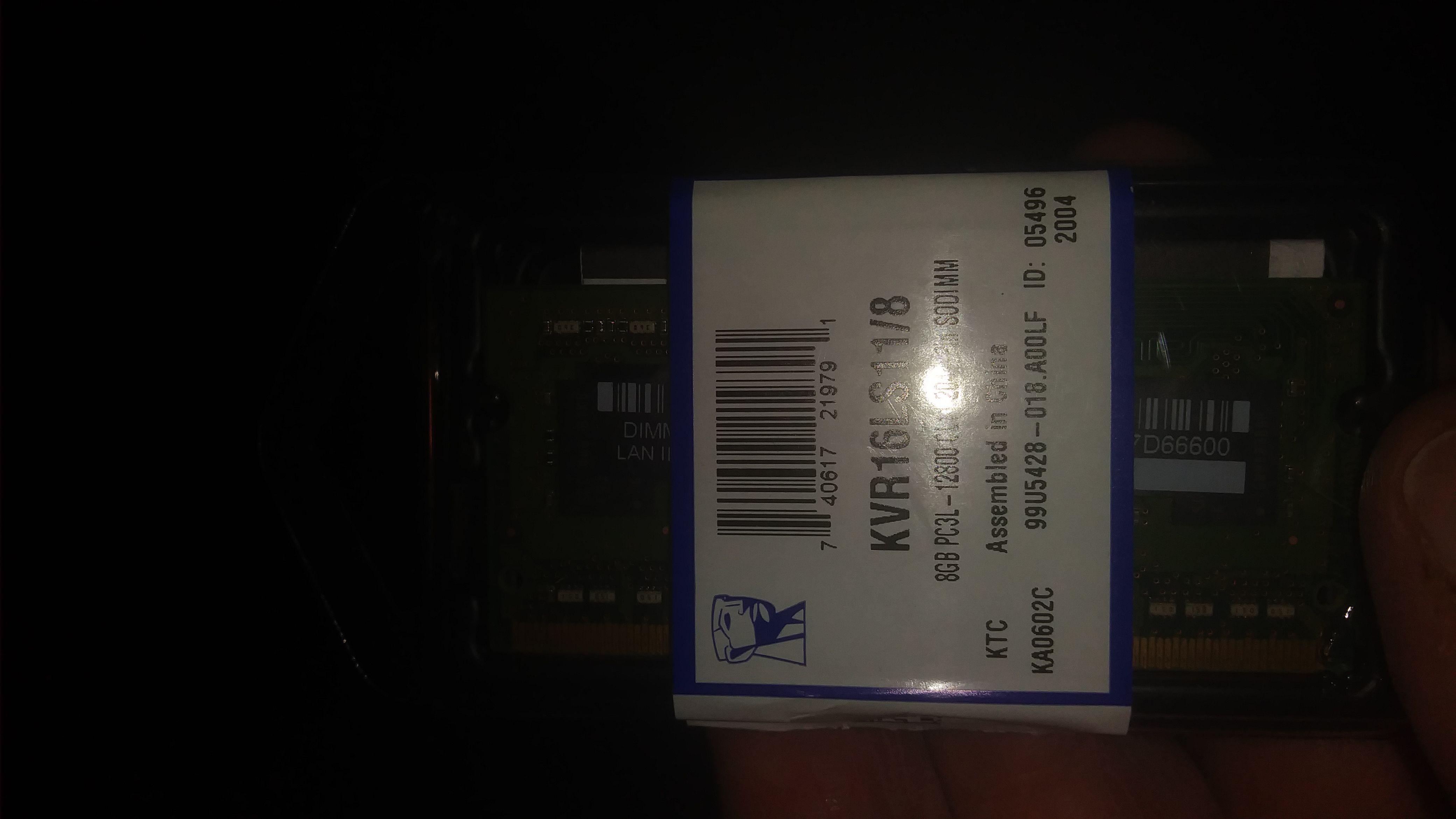 8GB 1600MHz DDR3L Non-ECC CL11 SODIMM 1.35V