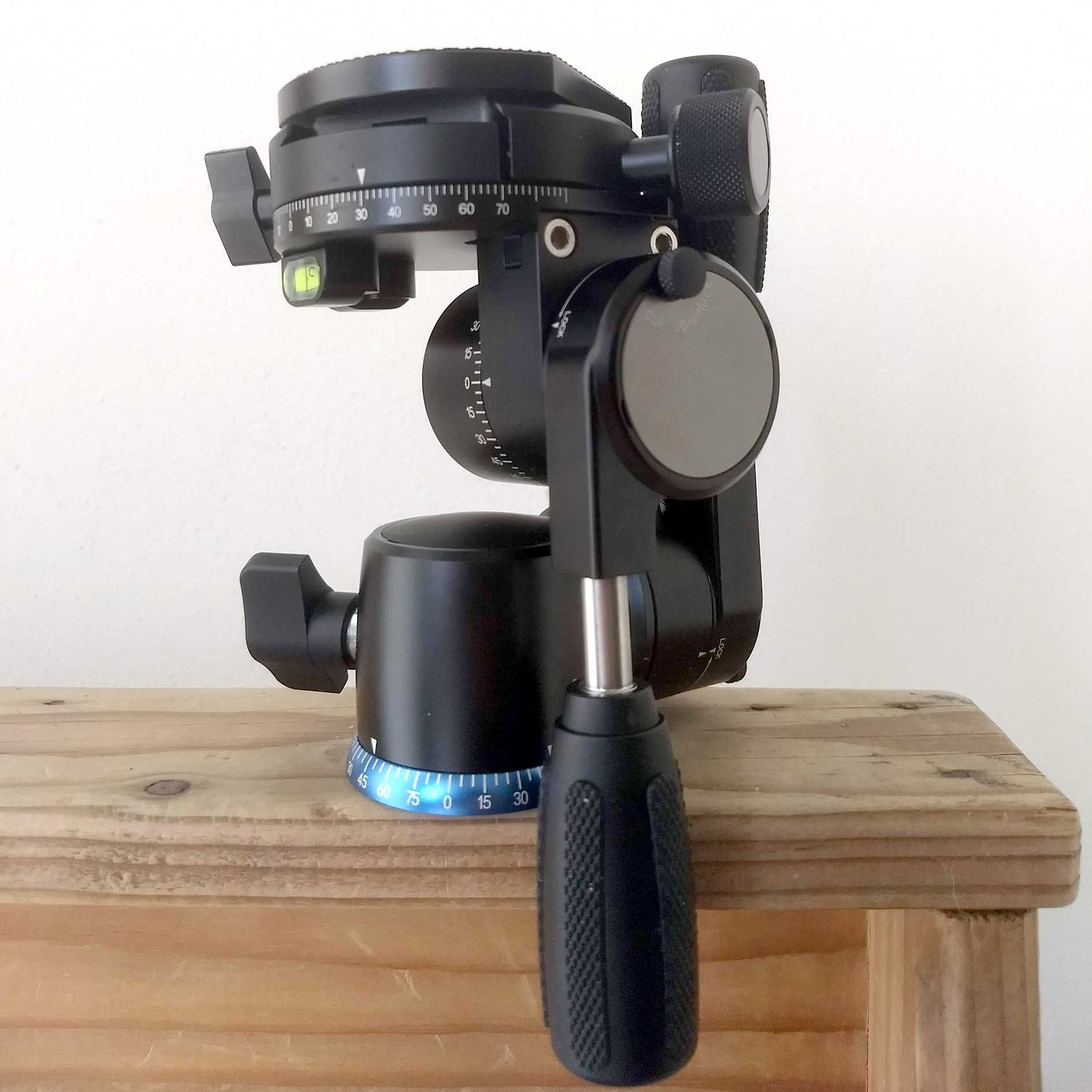 FD-01 testa per treppiede Nero Universal Panoramica