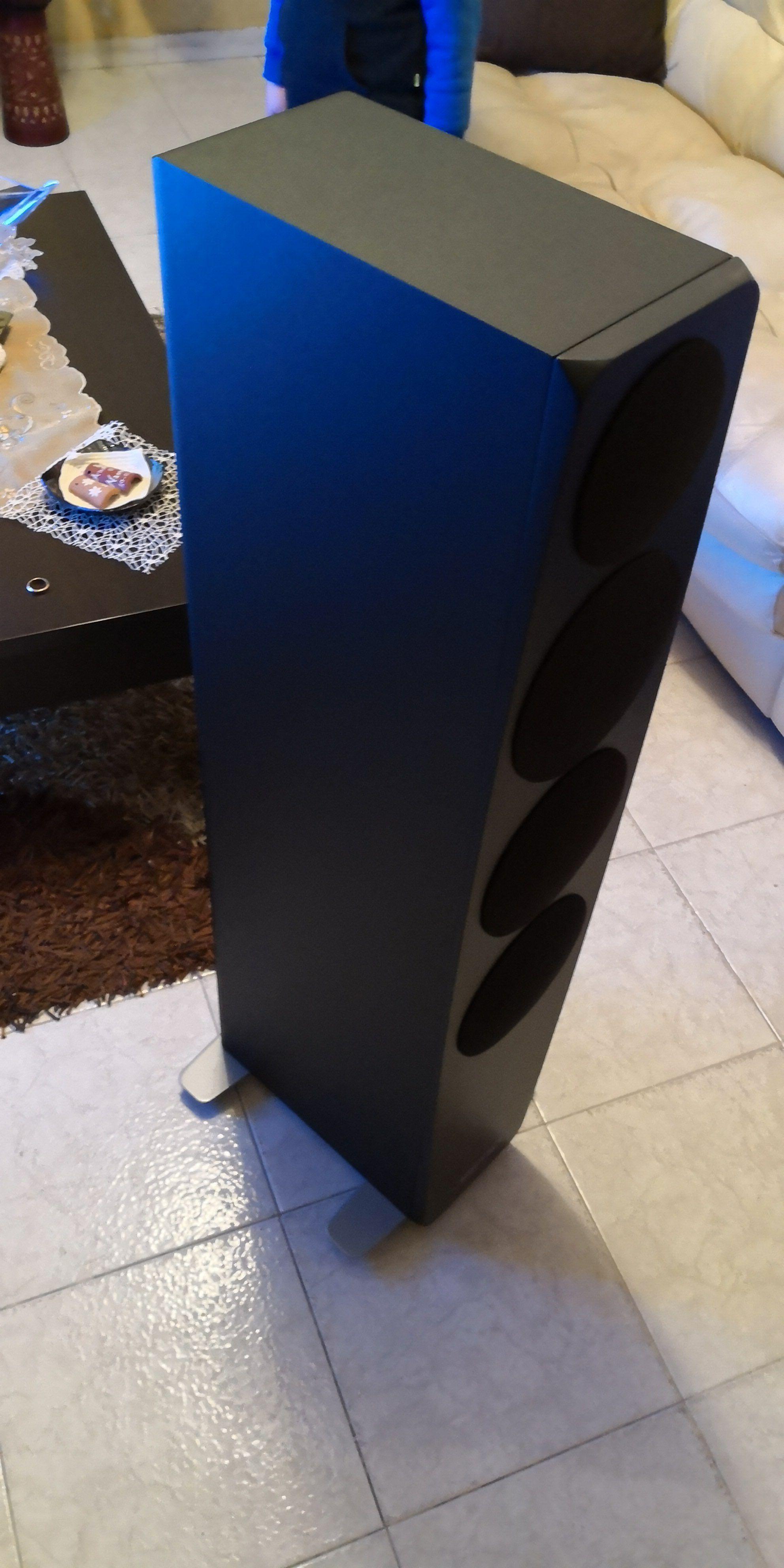 C97 Black nero diffusore da pavimento a 3 vie