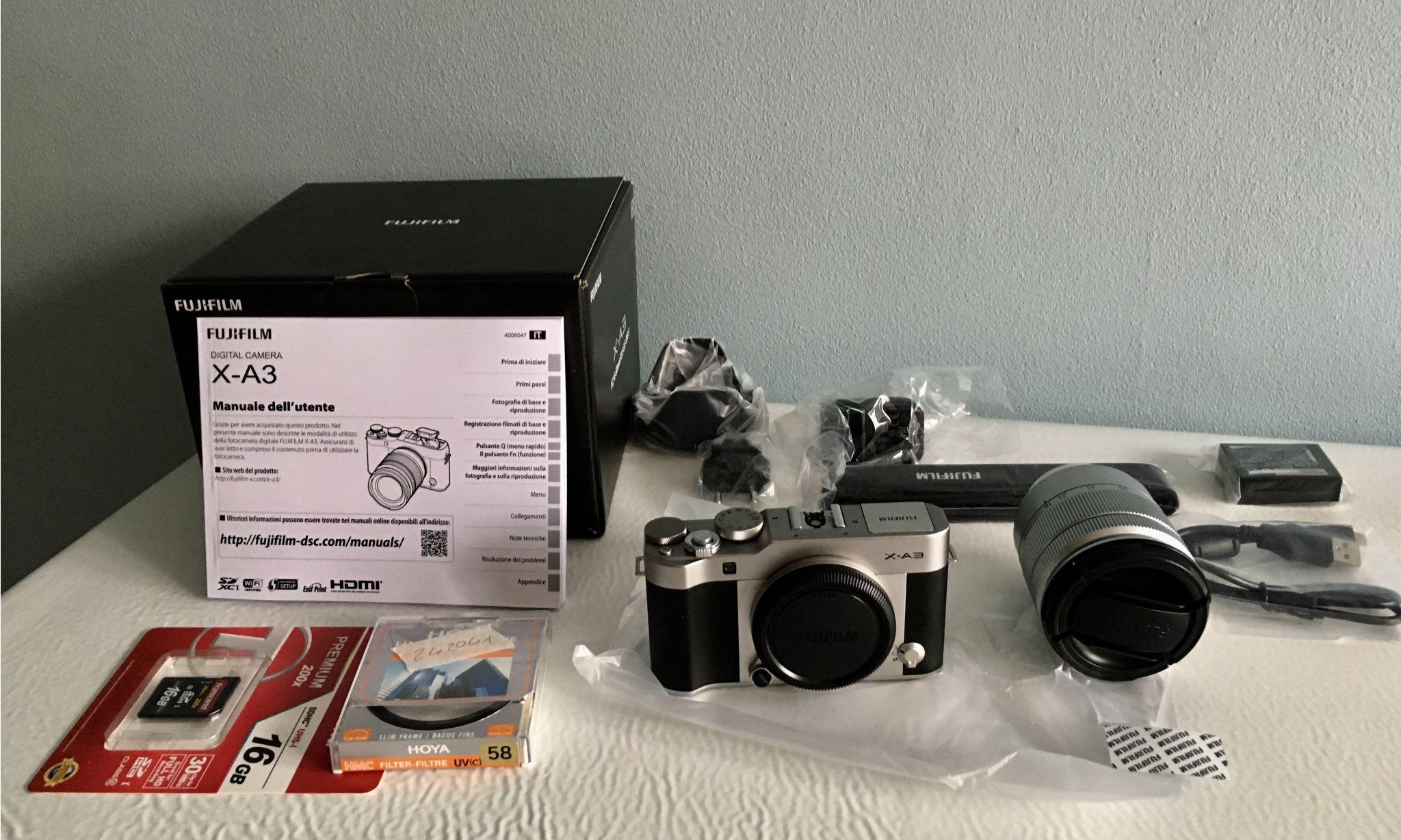Fujifilm X A3 16 50mm F 35 56 Ois Ii In Offerta Risparmi 46 Kit Silver